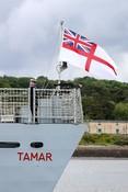Maritime - HMS Tamar White ensign